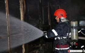 Agerpres: Un maxi taxi a luat foc astazi pe Soseaua Berceni