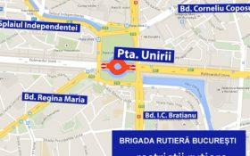 Trafic restrictionat astazi si in weekend in Bucuresti