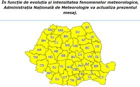 Avertizare Cod Galben de racire accentuata a vremii in Bucuresti!